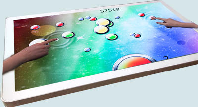 multitouch games table hire