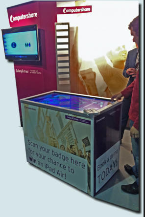 multitouch table exhibition